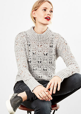 Jumper with an openwork knit texture from s.Oliver