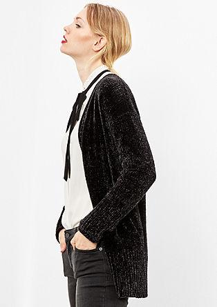 Pletený kabátek z flaušové příze