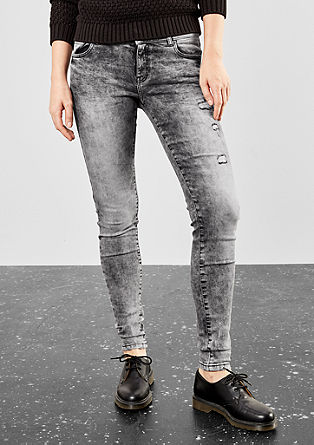 Sadie Superslim: Moonwash-Jeans