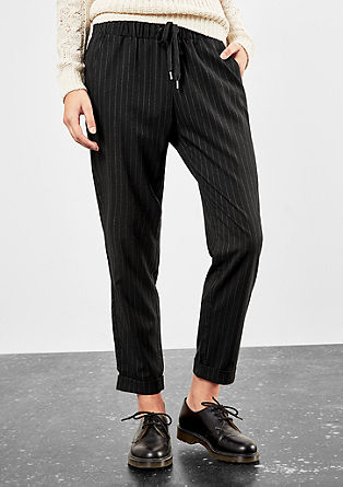 Cloth trousers with pinstripes from s.Oliver