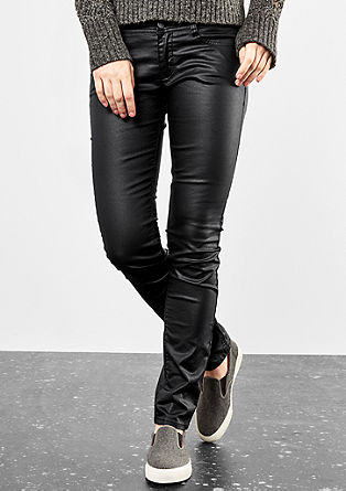 Catie Slim: coated jeans from s.Oliver