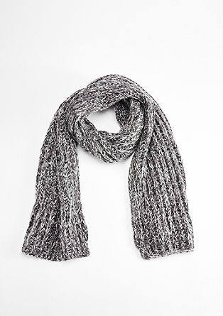 Knit scarf with a glitter effect from s.Oliver