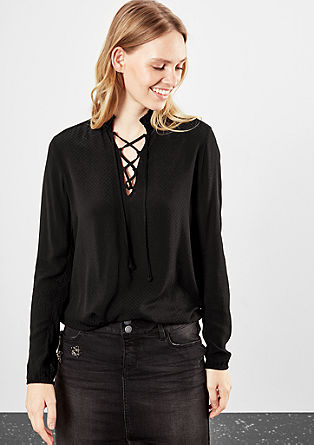 Blouseachtig shirt met striksluiting