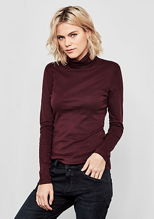 Lightweight polo neck top from s.Oliver