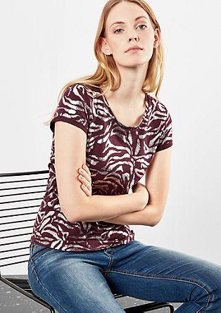 Kratka majica z vzorčastim potiskom