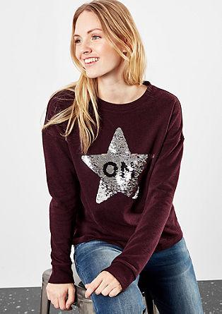 Športni pulover z dvostranskimi bleščicami