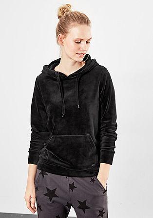 Velvety hooded jumper from s.Oliver
