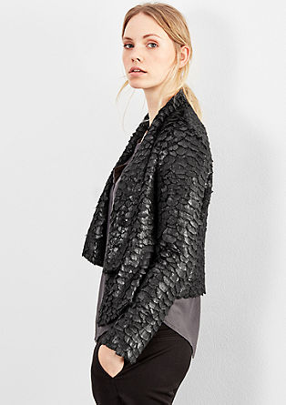 Short faux fur blazer from s.Oliver