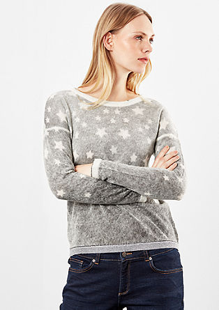 Knitted jumper with a star pattern from s.Oliver