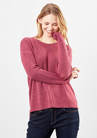 Knitted jumper with zips from s.Oliver