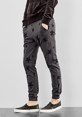 Tracksuit bottoms with a star pattern from s.Oliver