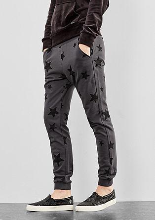 Pantalon en molleton à motif étoiles de s.Oliver