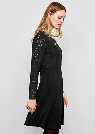 Dress with a lace top from s.Oliver