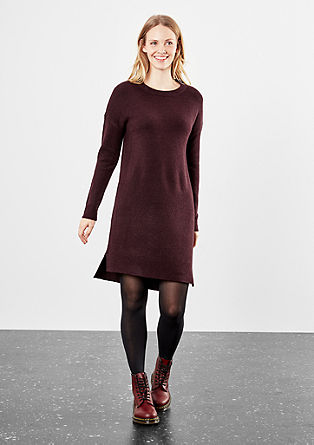 Knitted dress with ribbed inserts from s.Oliver