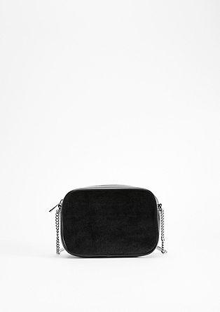 Boxy-Tasche mit Samt