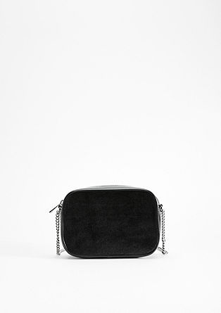 Mixed fabric bag in a boxy style from s.Oliver