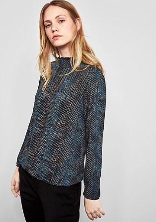 Viscose blouse met patroon