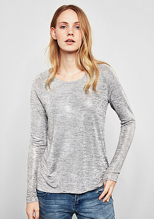 Longsleeve in metallic look