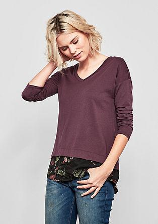 Tričko sdlouhým rukávem a vrstveným vzhledem