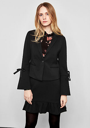Blazer with flounce sleeves from s.Oliver