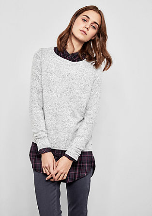 Soft melange jumper from s.Oliver