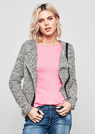 Cardigan with an asymmetric zip from s.Oliver