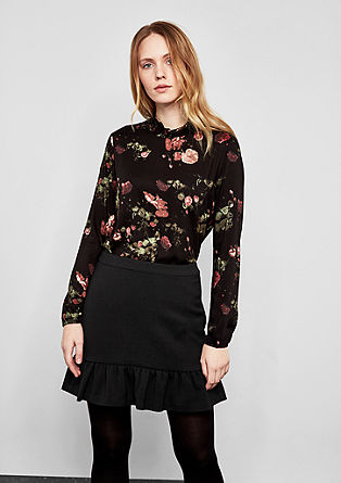Short skirt with a flounce hem from s.Oliver