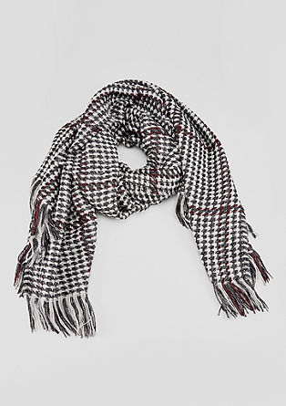 Oversized scarf with a herringbone pattern from s.Oliver