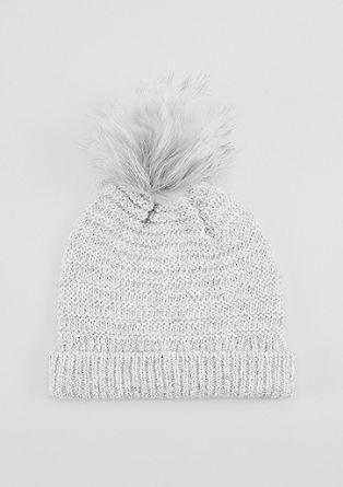 Pletena kapa z mini bleščicami