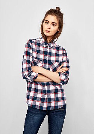 Flanelasta bluza s karirastim vzorcem