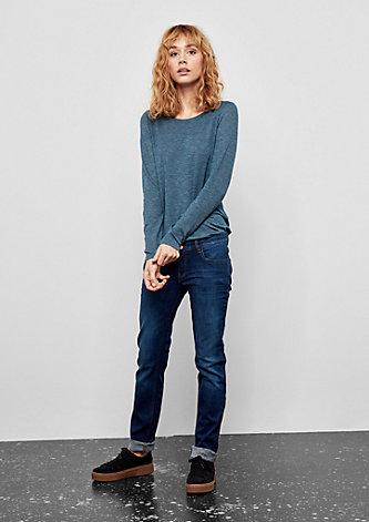 Catie Slim: Jeans mit Used-Details