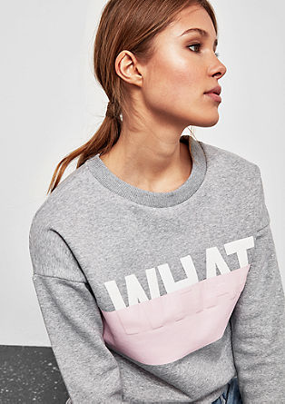 Casual sweatshirt with a 3D print from s.Oliver