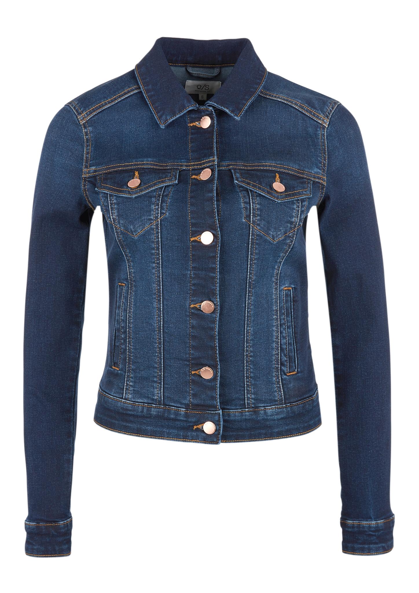 Jeansjacke | Bekleidung > Jacken > Jeansjacken | Blau | 99% baumwolle -  1% elasthan | Q/S designed by