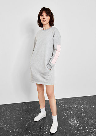 Sweatshirt dress with a rubber print from s.Oliver