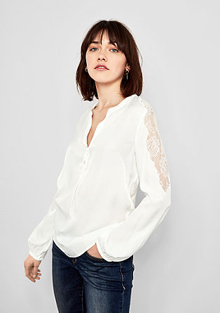 Blouse with lace insert from s.Oliver