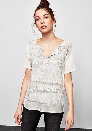 Bluza s 3D potiskom in bleščicami