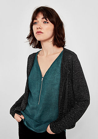 Cardigan with glitter stripes from s.Oliver