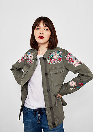 Cotton parka with embroidery from s.Oliver