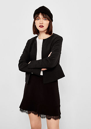 Elegant short blazer, no lapel from s.Oliver