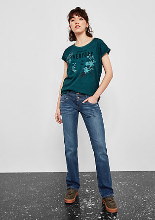Catie straight: five-pocket jeans