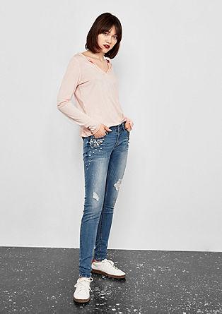 Sadie Superskinny: Bestickte Jeans