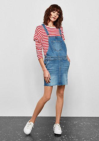 Kurzes Jeans-Latzkleid
