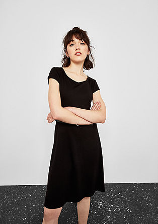 Jersey dress with a belt from s.Oliver
