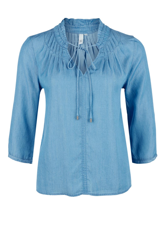 Tunika | Bekleidung > Tuniken > Sonstige Tuniken | Blau | 100% lyocell | Q/S designed by