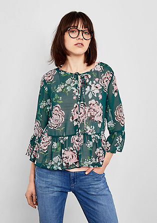 Sheer flounce blouse from s.Oliver