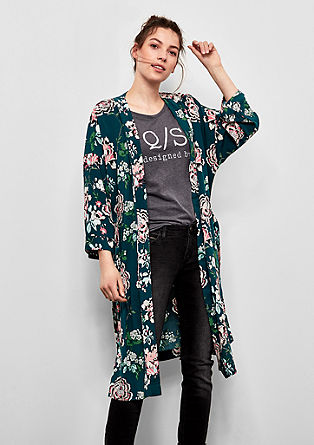 Kimono with a bright floral print from s.Oliver