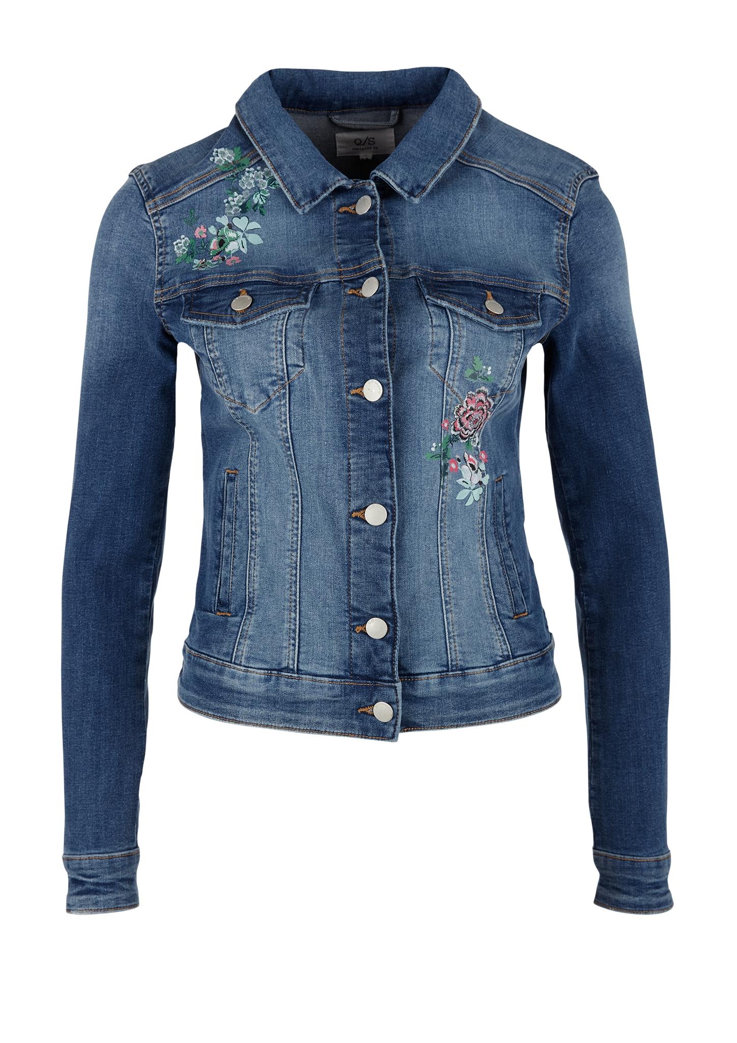 Jeansjacke | Bekleidung > Jacken > Jeansjacken | Blau | 82% baumwolle -  16% polyester -  2% elasthan | Q/S designed by