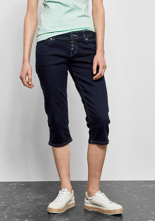 Catie Slim: Dunkle Capri-Jeans