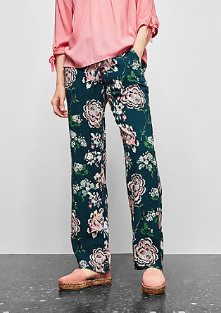 Comfortable trousers with an all-over print from s.Oliver