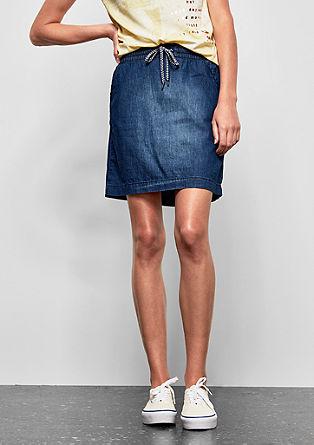 jeans krilo s kontrastnim pasom